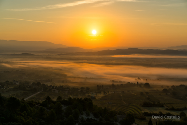 Sunrise from Gordes France